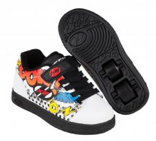 Heelys X2 Dual Up White/Black/Multi Comic